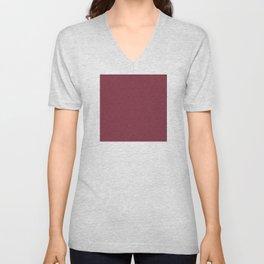 Rose Red (Rouge) Tres Petit Geometric Pattern Unisex V-Neck