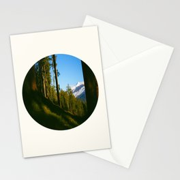 Mid Century Modern Round Circle Photo Secret Forest Hill Stationery Cards
