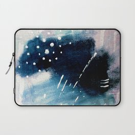 Meteor Shower - an abstract acrylic piece in blue and white Laptop Sleeve
