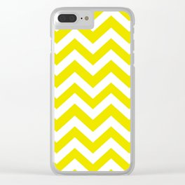 Titanium yellow - yellow color - Zigzag Chevron Pattern Clear iPhone Case