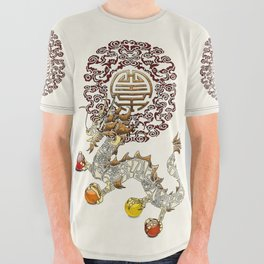 Dragon Chakra All Over Graphic Tee