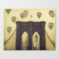 Balloons Over the Bridge Canvas Print