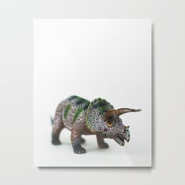 Fine Art Dinosaur Print: Triceratops Metal Print