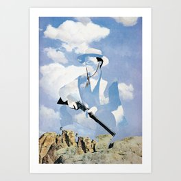 The Unknown Rider in Throw A Tall Shadow Art Print