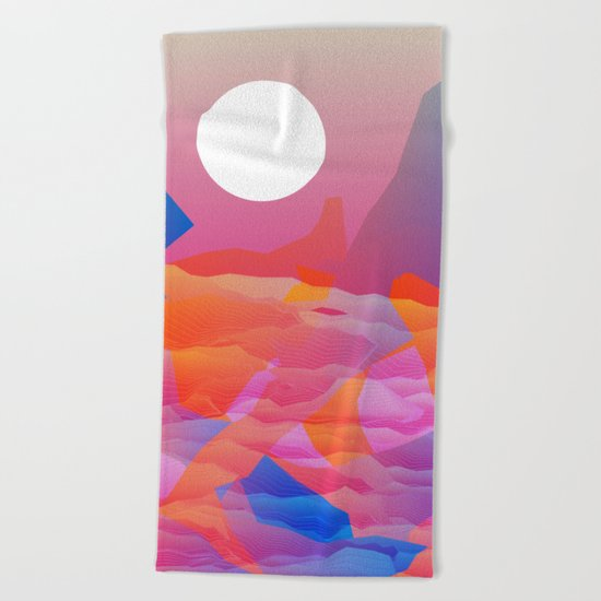 Magic Sunset at D Point Beach Towel