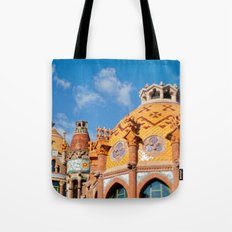 Modernism architecture in Barcelona Tote Bag