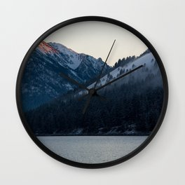 Last Light at Wallowa Lake Oregon Wall Clock