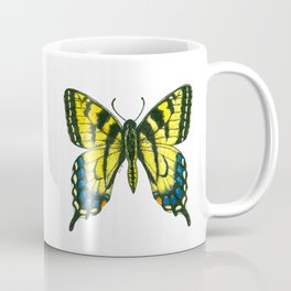 Tiger swallowtail butterfly watercolor and ink Coffee Mug