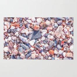 Sand and stones on the beach Rug