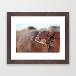 Saddle Framed Art Print