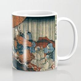 Ukiyo-e, Utagawa Kuniyoshi, Priest Nichiren praying under the storm Coffee Mug