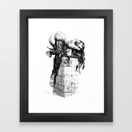 Over knees Framed Art Print
