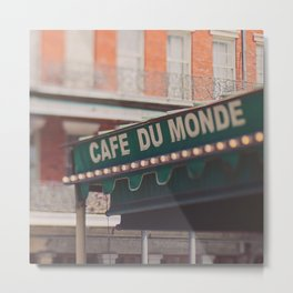 Cafe Du Monde. Coffee and Beignets Metal Print