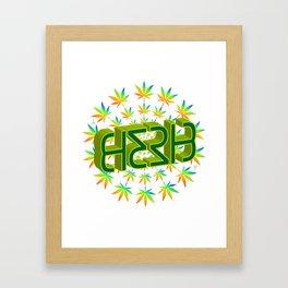 """HERB' (original invertible ambigram) Framed Art Print"