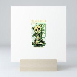 Slashing Party 4 Mini Art Print