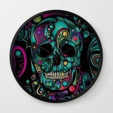 Skull Camouflage Wall Clock