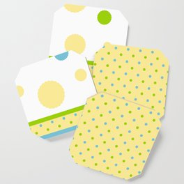 Yellow, With Dots Coaster