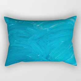 Blue Swipes Rectangular Pillow