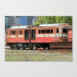 Broken Down Train Canvas Print