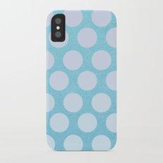 Ocean Blue Dots iPhone X Slim Case