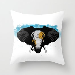 Angry Elephant Throw Pillow