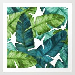 Tropical Banana Leaves Unique Pattern Art Print