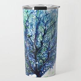 Fan Coral - Aqua Travel Mug