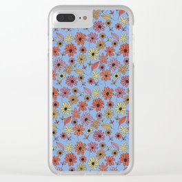 Summer Florals Clear iPhone Case