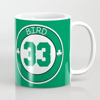 larry Mugs featuring Larry Bird by Will Wild