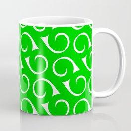 Green and White Swirls Coffee Mug