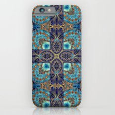 Blue and Gold Filigree Tiles Slim Case iPhone 6s