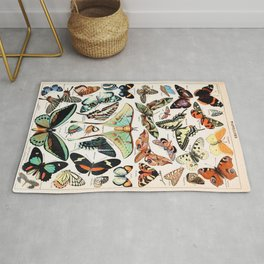 Adolphe Millot - Papillons pour tous - French vintage poster Rug