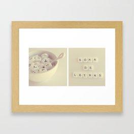 sopa de letras Framed Art Print