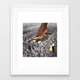 Aliens Have Landed Framed Art Print