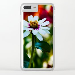 Painted Greens - Daisy in garden Clear iPhone Case
