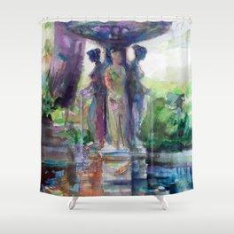 Three Graces Fountain Shower Curtain