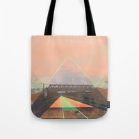 tesla Tote Bags featuring tesla by michelle borjon