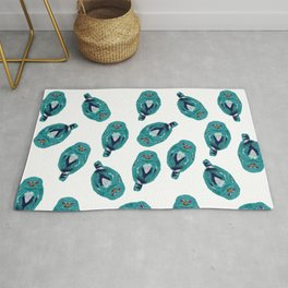 The Blue Owl Rug