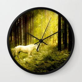 Alone in the Forest Wall Clock