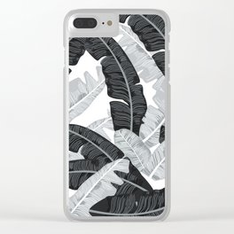 BANANA LEAVES 5 Clear iPhone Case