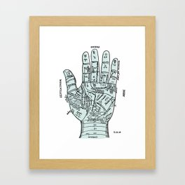 Palm Reader, Chiromancy, fortune-telling Framed Art Print
