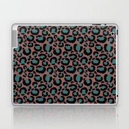 Brown & Teal Leopard Print Laptop & iPad Skin