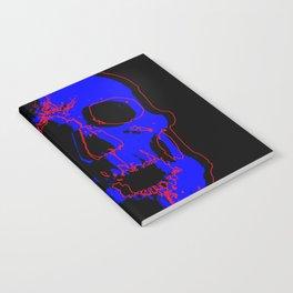 Skull - Blue Notebook