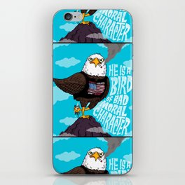 He is a Bird of Mad Moral Character iPhone Skin