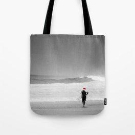 surf santa - shore walk Tote Bag
