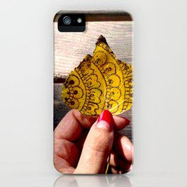 Henna Inspired Hand Painted Leaf iPhone Case