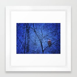 Waiting Out The Cold Framed Art Print