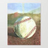 baseball Canvas Prints featuring Baseball by 6-4-3