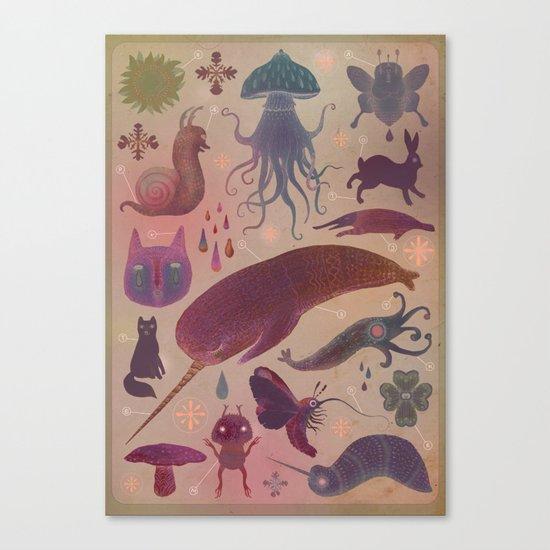 Purple Northern Dream Canvas Print