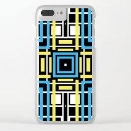 geometric art 2 Clear iPhone Case